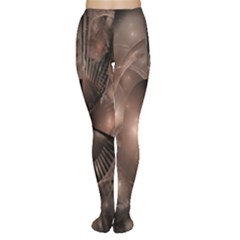 A Fractal Image In Shades Of Brown Women s Tights by Nexatart