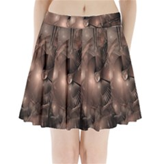 A Fractal Image In Shades Of Brown Pleated Mini Skirt by Nexatart