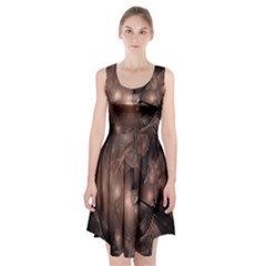 A Fractal Image In Shades Of Brown Racerback Midi Dress by Nexatart