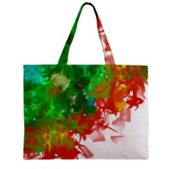 Digitally Painted Messy Paint Background Textur Mini Tote Bag by Nexatart