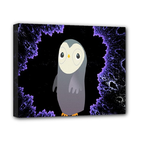 Fractal Image With Penguin Drawing Canvas 10  X 8  by Nexatart