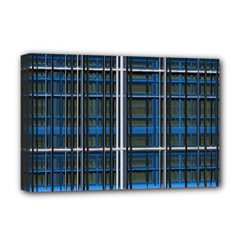 3d Effect Apartments Windows Background Deluxe Canvas 18  X 12   by Nexatart