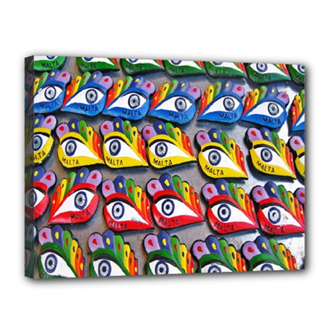 The Eye Of Osiris As Seen On Mediterranean Fishing Boats For Good Luck Canvas 16  X 12  by Nexatart