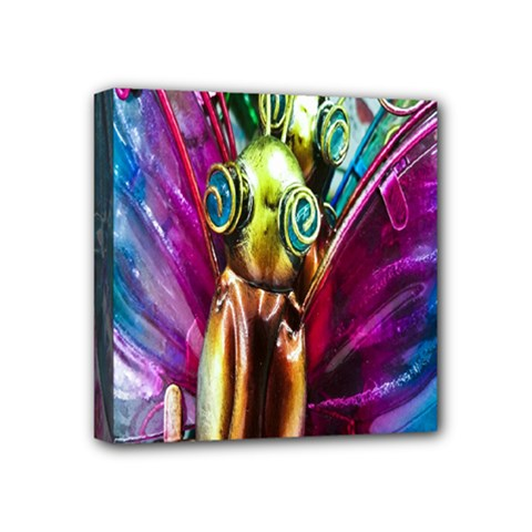 Magic Butterfly Art In Glass Mini Canvas 4  X 4  by Nexatart