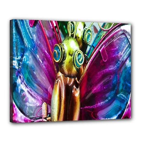 Magic Butterfly Art In Glass Canvas 20  x 16