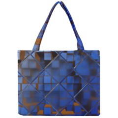 Glass Abstract Art Pattern Mini Tote Bag by Nexatart
