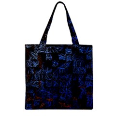 Background Abstract Art Pattern Zipper Grocery Tote Bag by Nexatart