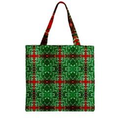 Geometric Seamless Pattern Digital Computer Graphic Zipper Grocery Tote Bag by Nexatart