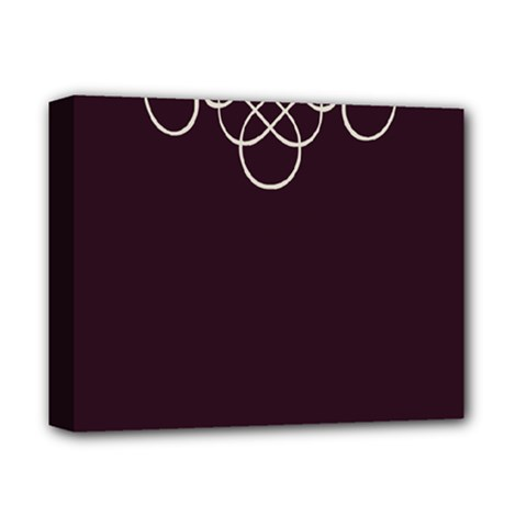 Black Cherry Scrolls Purple Deluxe Canvas 14  X 11  by Mariart