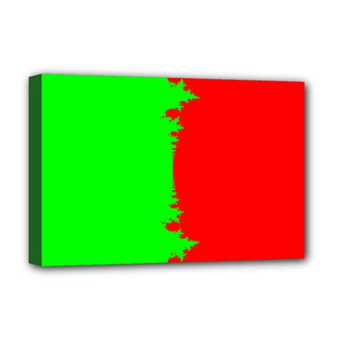 Critical Points Line Circle Red Green Deluxe Canvas 18  X 12   by Mariart
