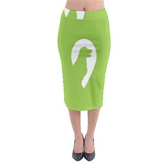 Dog Green White Animals Midi Pencil Skirt by Mariart