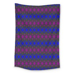 Diamond Alt Blue Purple Woven Fabric Large Tapestry by Mariart