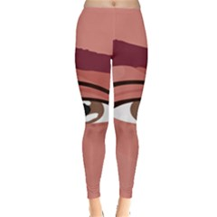 Eye Difficulty Red Leggings  by Mariart