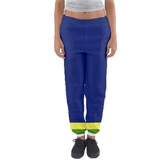 Flag Star Blue Green Yellow Women s Jogger Sweatpants by Mariart