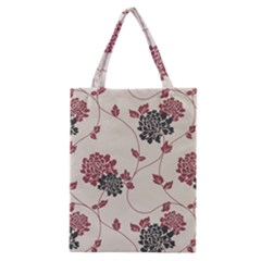 Flower Floral Black Pink Classic Tote Bag by Mariart