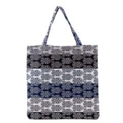 Digital Print Scrapbook Flower Leaf Colorgray Black Purple Blue Grocery Tote Bag by Mariart