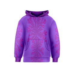 Dendron Diffusion Aggregation Flower Floral Leaf Red Purple Kids  Pullover Hoodie by Mariart