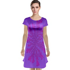 Dendron Diffusion Aggregation Flower Floral Leaf Red Purple Cap Sleeve Nightdress by Mariart