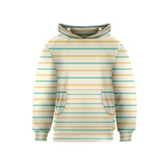 Horizontal Line Yellow Blue Orange Kids  Pullover Hoodie by Mariart
