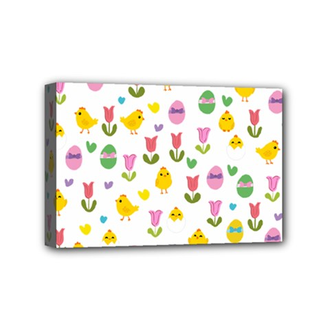 Easter   Chick And Tulips Mini Canvas 6  X 4  by Valentinaart
