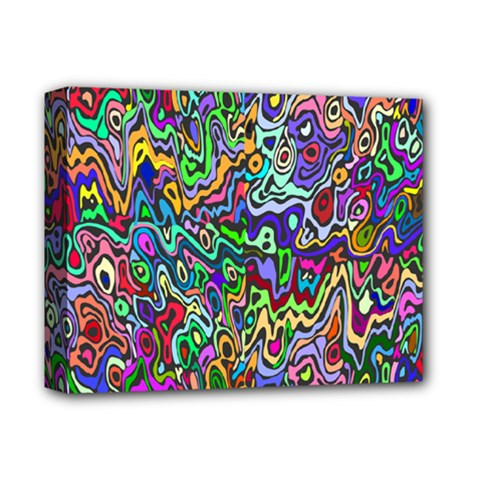 Colorful Abstract Paint Rainbow Deluxe Canvas 14  X 11  by Mariart
