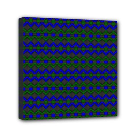 Split Diamond Blue Green Woven Fabric Mini Canvas 6  X 6  by Mariart
