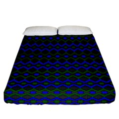 Split Diamond Blue Green Woven Fabric Fitted Sheet (california King Size) by Mariart