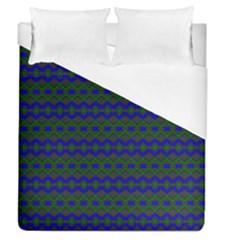Split Diamond Blue Green Woven Fabric Duvet Cover (queen Size) by Mariart