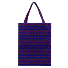 Split Diamond Blue Purple Woven Fabric Classic Tote Bag by Mariart