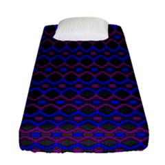 Split Diamond Blue Purple Woven Fabric Fitted Sheet (single Size) by Mariart
