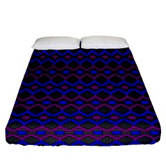 Split Diamond Blue Purple Woven Fabric Fitted Sheet (queen Size) by Mariart
