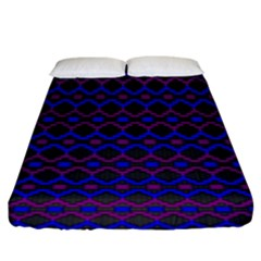 Split Diamond Blue Purple Woven Fabric Fitted Sheet (king Size) by Mariart