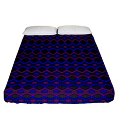 Split Diamond Blue Purple Woven Fabric Fitted Sheet (california King Size) by Mariart