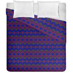 Split Diamond Blue Purple Woven Fabric Duvet Cover Double Side (california King Size) by Mariart