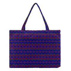 Split Diamond Blue Purple Woven Fabric Medium Tote Bag by Mariart