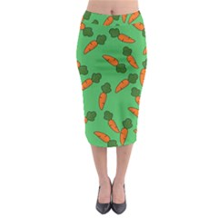 Carrot pattern Midi Pencil Skirt by Valentinaart