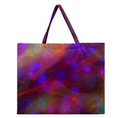 Vaccine Blur Red Zipper Large Tote Bag by Mariart