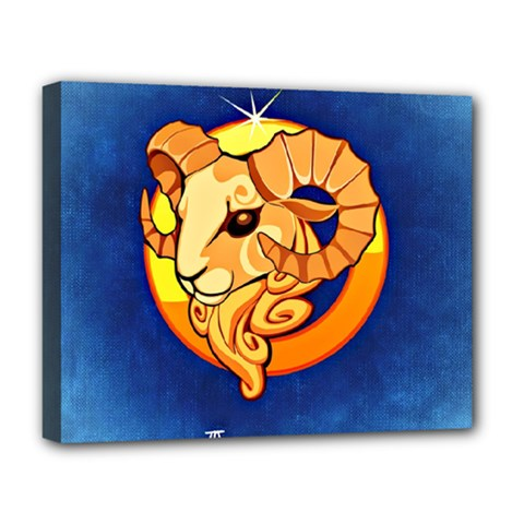 Zodiac Aries Deluxe Canvas 20  X 16   by Mariart