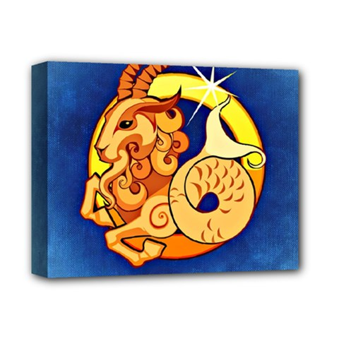 Zodiac Capricorn Deluxe Canvas 14  X 11  by Mariart
