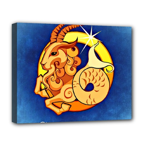 Zodiac Capricorn Deluxe Canvas 20  X 16   by Mariart