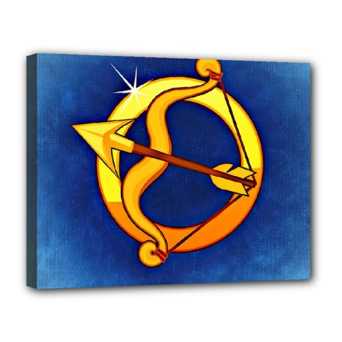 Zodiac Sagittarius Canvas 14  X 11  by Mariart