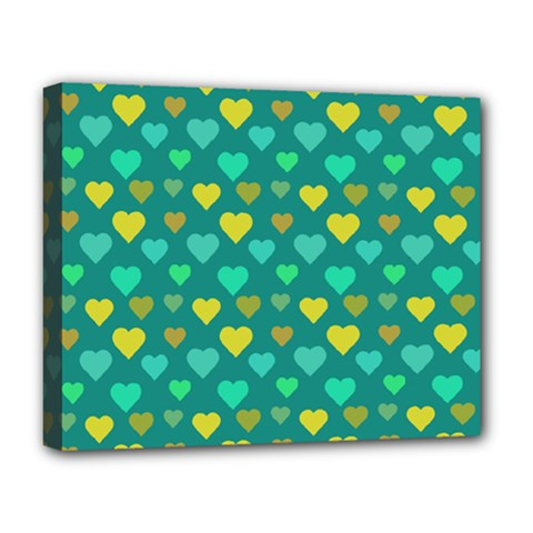 Hearts Seamless Pattern Background Deluxe Canvas 20  X 16   by Nexatart