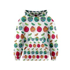 Watercolor Floral Roses Pattern Kids  Pullover Hoodie by Nexatart