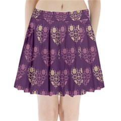 Purple Hearts Seamless Pattern Pleated Mini Skirt by Nexatart