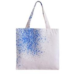 Blue Paint Splats Zipper Grocery Tote Bag by Nexatart