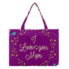 Happy Mothers Day Celebration I Love You Mom Medium Tote Bag by Nexatart
