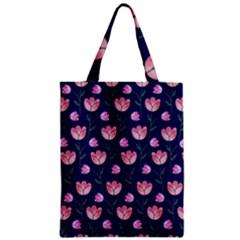 Watercolour Flower Pattern Zipper Classic Tote Bag by Nexatart