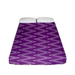 Purple Zig Zag Pattern Background Wallpaper Fitted Sheet (full/ Double Size)