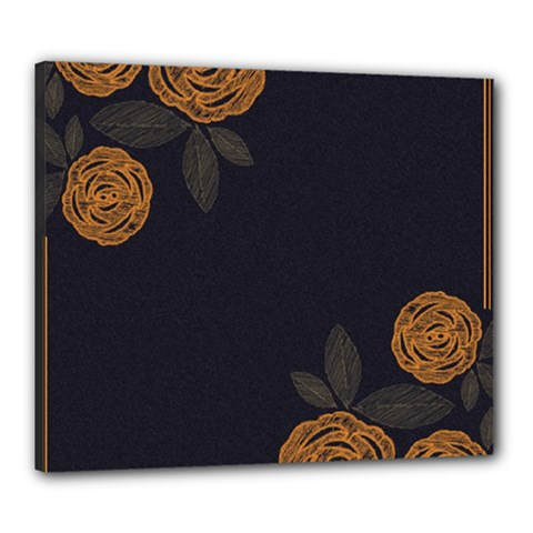 Floral Roses Seamless Pattern Vector Background Canvas 24  X 20  by Nexatart