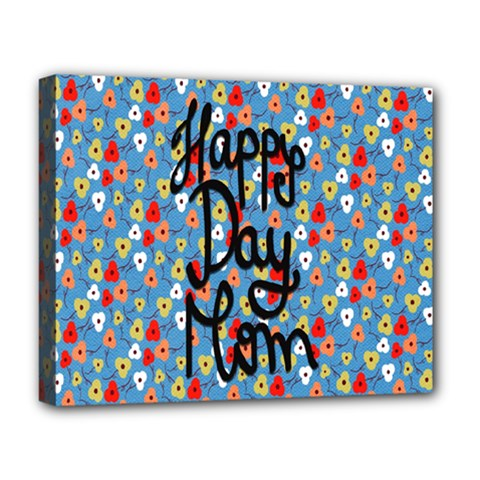 Happy Mothers Day Celebration Deluxe Canvas 20  X 16   by Nexatart